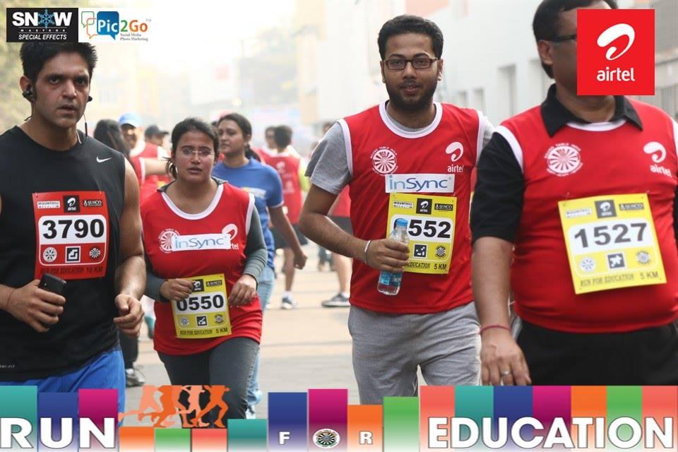 Airtel run for education marathon 2014