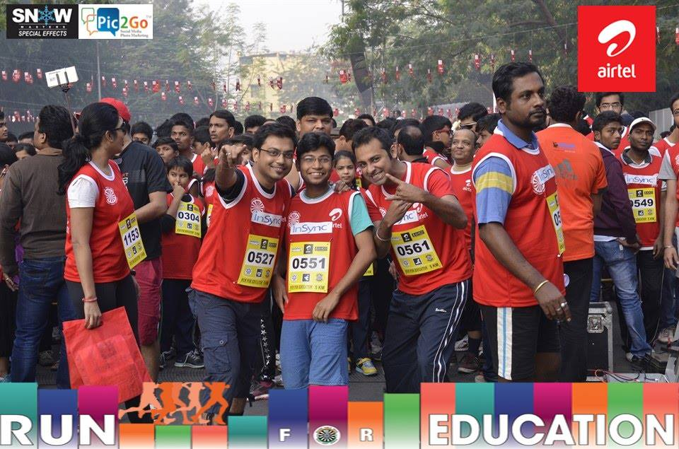 airtel run for education- Insync