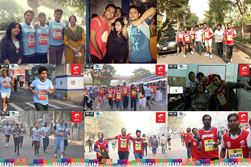 InSync at the Airtel Run For Education Marathon 2014