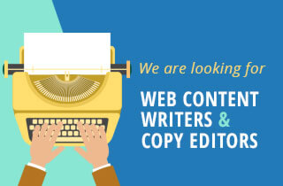 We are looking for web content writers and copy editors!
