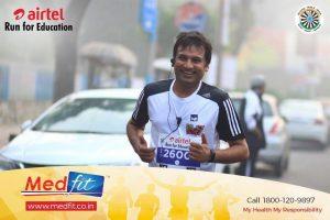 Atul Gupta at Airtel Marathon 2016