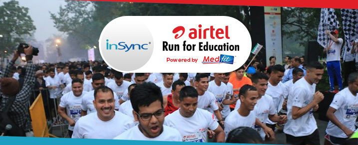 InSync at the Airtel Run For Education Marathon 2016