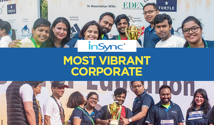 InSync-Won-Most-Vibrant-Corporate-Award-at-Airtel-Run-For-Education-Kolkata