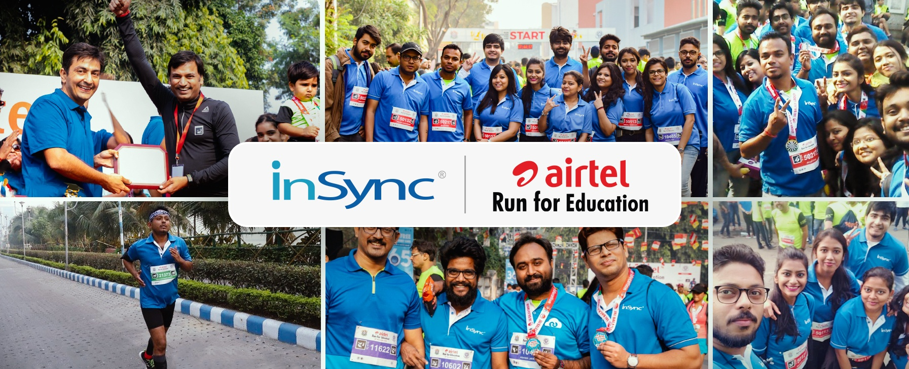 InSync bags 'The Most Vibrant Corporate Award' for the Second Time at Airtel Run for Education 2018