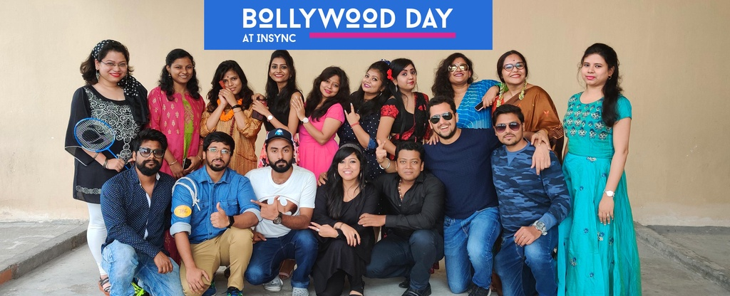 Diwali-celebration-at-office-dressing-up-as-bollywood-characters