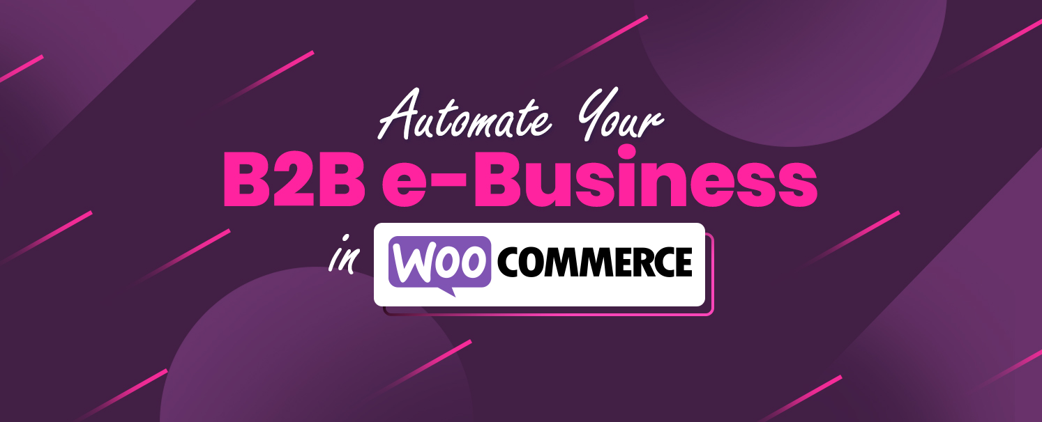 Automate Your B2B eBusiness in WooCommerce